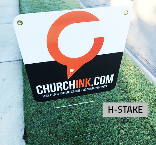 Corrugated Yard Signs with H-Stake
