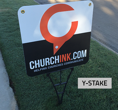 Corrugated Yard Signs with Y-Stake