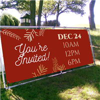 Christmas Outdoor Banner Frame