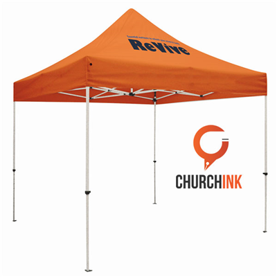 Check In Tent 10ft - 1 Color Imprint