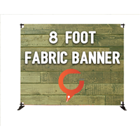 8' Slider Fabric Banner Stand