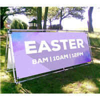 Easter Outdoor Banner Display Frame - 4'