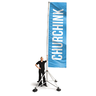 Expand Premium 18' Double-Sided Flag Stand