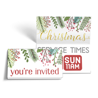 Christmas Folded Invites