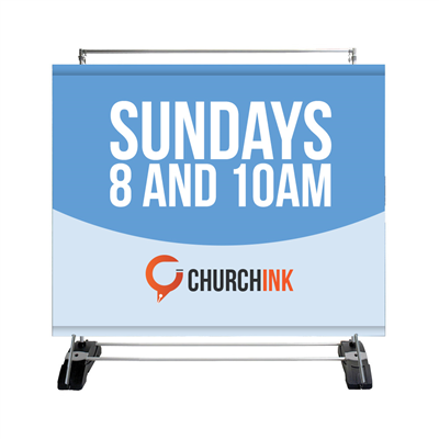 Church Banners Single-Sided Outdoor Banner Wall - Water Base